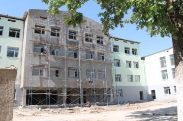 Ремонт в школе-гимназии №1 им. А. С. Пушкина закончится к 1 сентября 2014 года