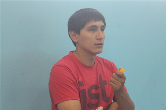 "Максат Нарметов, играющий тренер по гандболу команды ""Казыгурт"""