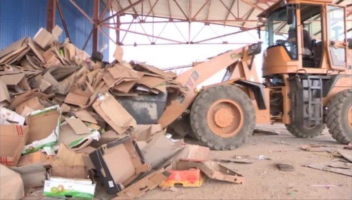 завод по переработке мусора провел пробный запуск