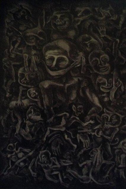"""Картина из серии """"Тревожный сон"""" лист 3"""