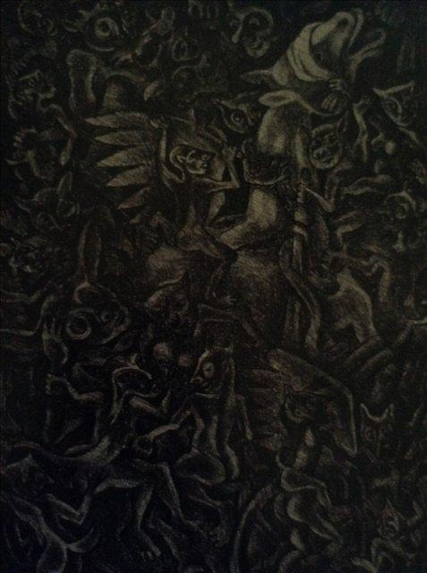 """Картина из серии """"Тревожный сон"""" лист 1"""