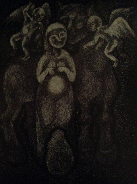 """Картина из серии """"Тревожный сон"""" лист 2"""