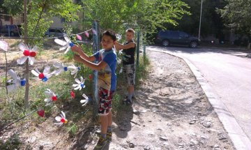 Ребята из дома №39 на улице Аскарова с удовольствием поддерживают инициативу взрослых