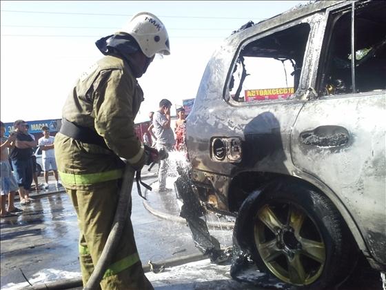 Пожар в автосервисе