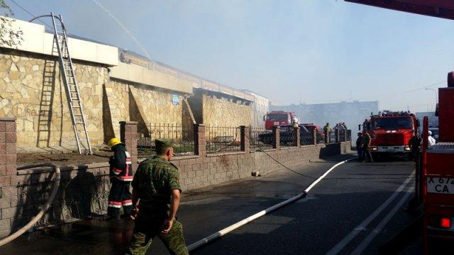 В пожаре никто не пострадал. Ущерб оценили в 0 тенге