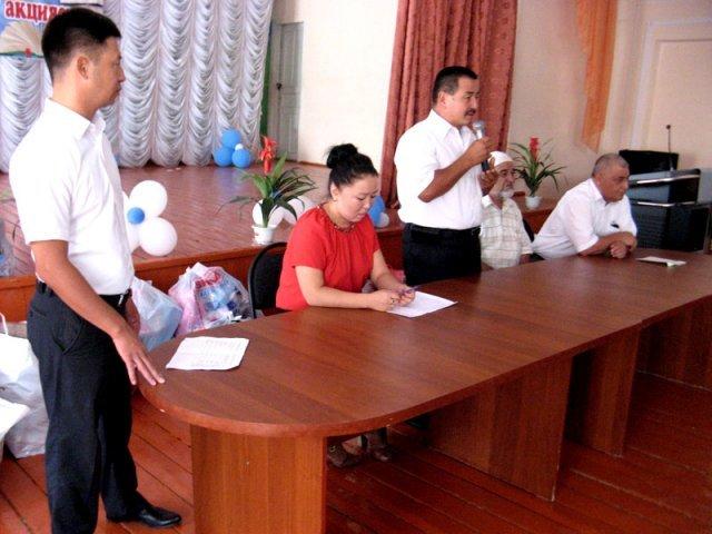 В этом году сотрудники городского отдела спорта и физкультуры охватили сразу три школы села Сайрам