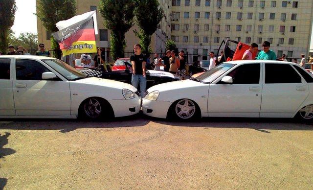 Огромный интерес шымкентцы проявили к отечесвенным, тюнингованным автомобилям