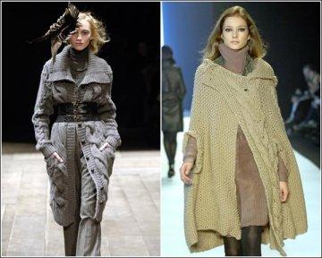 Дизайнеры предлагают носить этакие съемные воротники из меха или шерсти