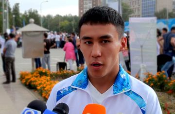 Шалкар Айхынбай, участник летних юношеских олимпийских игр в Нанкине