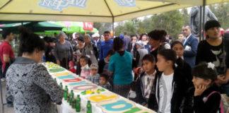 В Шымкенте приготовили торт претендующий на участие в Казахстанской книге рекордов Гинесса