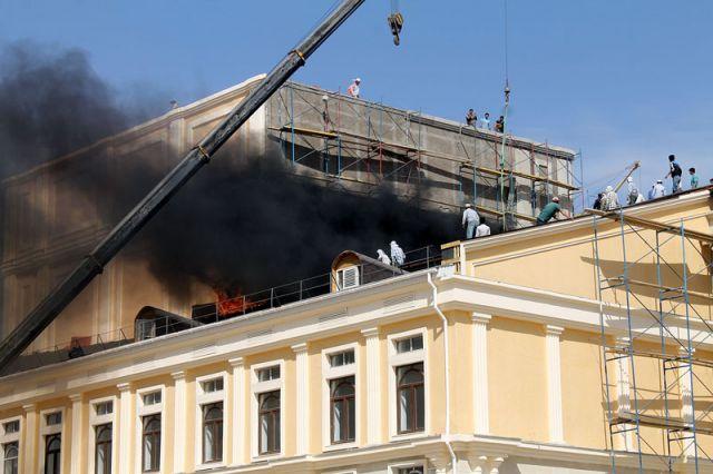 Пожар в новом театре