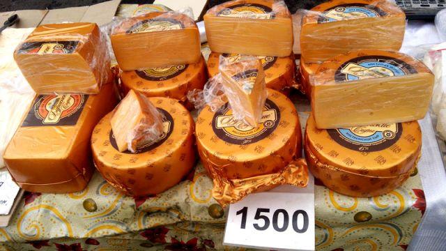 Сыр от 1500 тенге за килограмм
