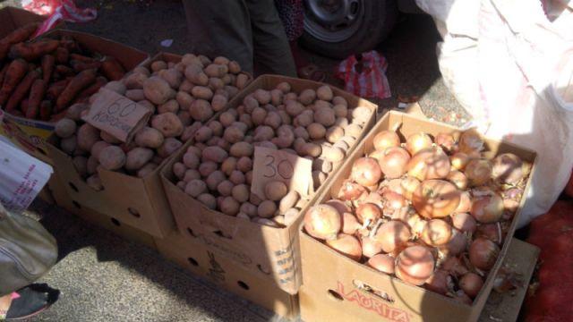 Цены на картофель варьировали от 30 до 65 тенге за килограмм