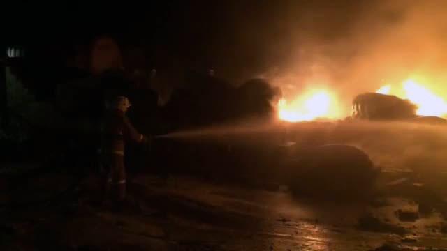 Пожар на территории бывшего Фосфорного завода