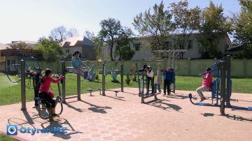 В центре Шымкента появится 6 новых тренажёрных площадок