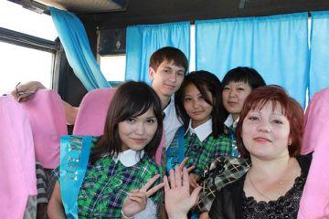 Ольга Цой со своими учениками