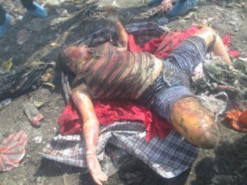 Фотография трупа убитой женщины