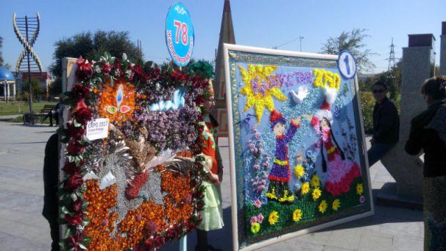 Дети вместе с учителями создавали удивительные картины и поделки из овощей, фруктов, цветов, семян