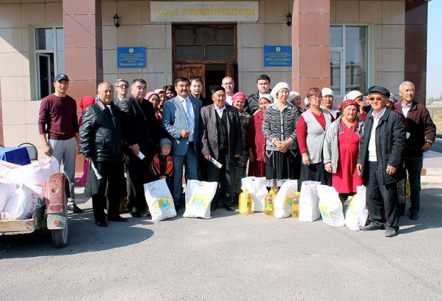 123 малоимущих семьи получили помощь от родственников и благотворительного фонда Кауысбека Турысбекова