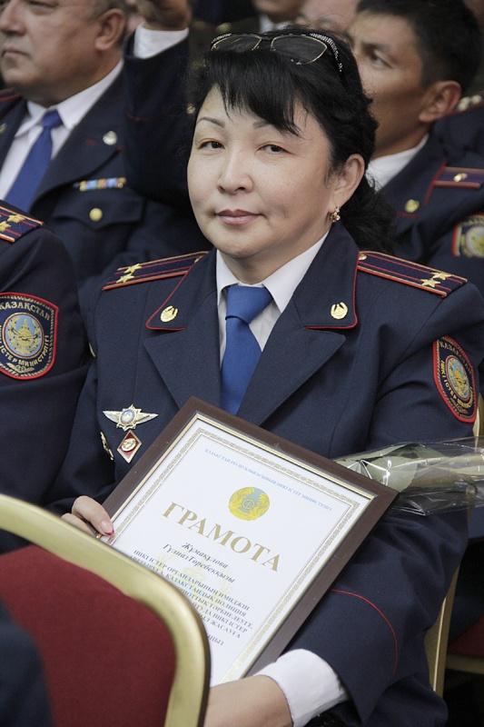Начальник процессингового центра общественной безопасности ДВД ЮКО Гульназ Жумакулова