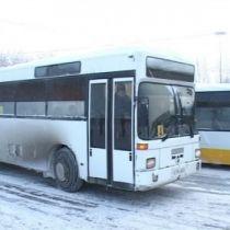 Автобусы зимой в гололед