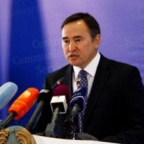 Аскар Мырзахметов на брифинге в СКЦ
