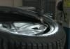 Смазываете края резины специальным клеем и надеваете на обод, с помощью спец оборудования для шина монтажа