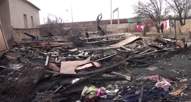 Семья из пяти человек в ЮКО осталась без крова