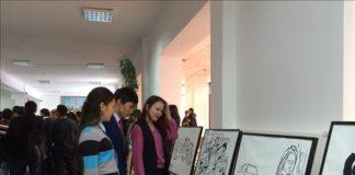 В Южно-Казахстанском государственном педагогическом институте открылась необычная художественная выставка