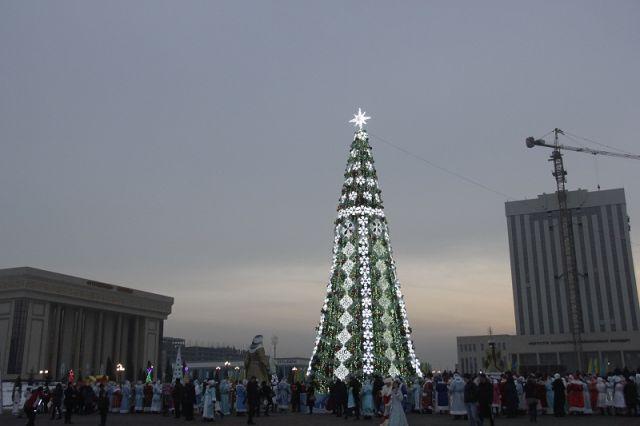Огни зажглись на главной елке города