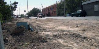 Реконструкция улицы Мадели кожа в Шымкенте продолжается