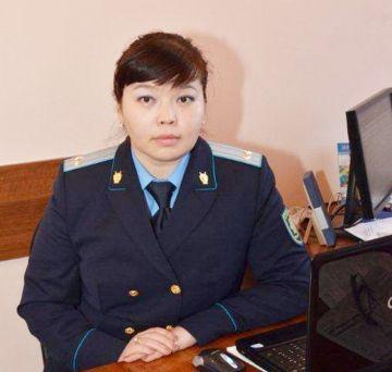 Старший помощник прокурора ЮКО Гульдария Темирбаева