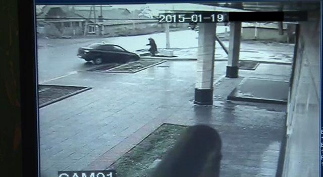 Скриншот с видео камеры наблюдения