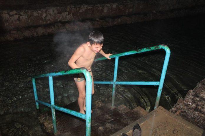 Купание ночью на Крещение