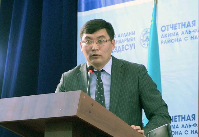 Аким Аль-Фарабийского района Бауыржан Калжанов