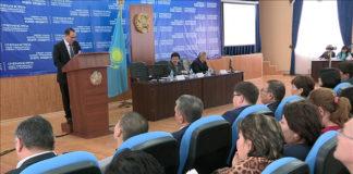 Отчетная встреча акима Енбекшинского района с населением