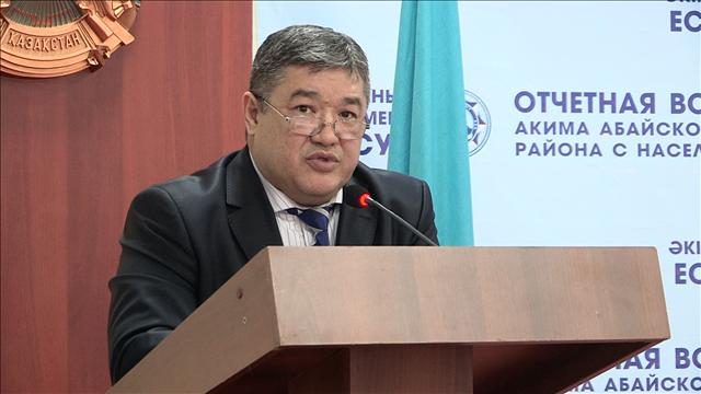 аким Абайского района Ахмет Татыбаев