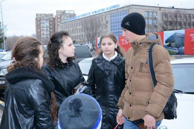 На конкурс приехали даже дети из Аксукента