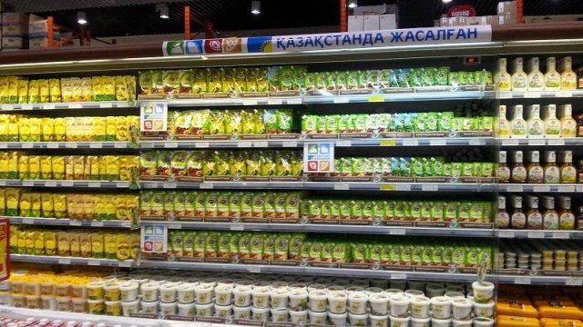 В супермаркетах города появились специализированные стеллажи с пометкой «Сделано в Казахстане»