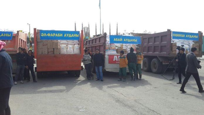 В Шымкенте 1000 семей получили продукты