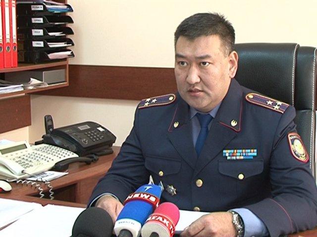 Начальник управления криминальной полиции Кенжебек Ондасынов