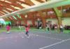 В национальном теннисном центре веселые старты