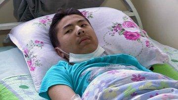 Сагындык Жанысбаев, пострадавший от прививки