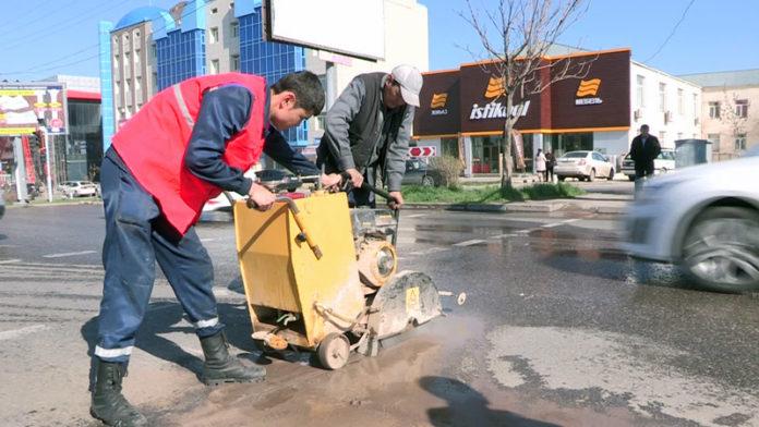 В Шымкенте произошел порыв на крупном магистральном водопроводе