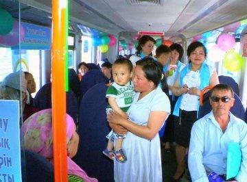 Необычный поезд выехал из Шымкента