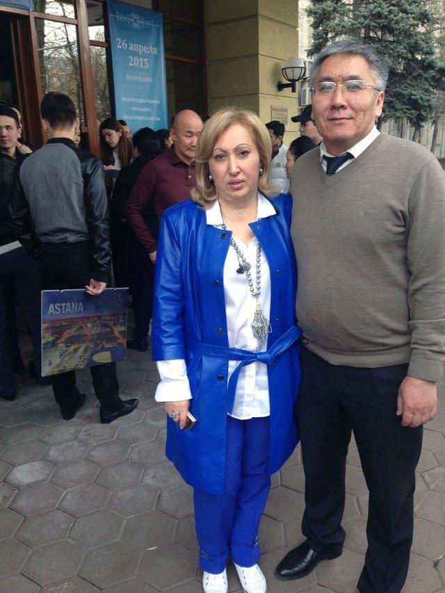 Директор резиденции посольства РК в РФ Тамара Бабакова и советник посла Руслан Койсарин