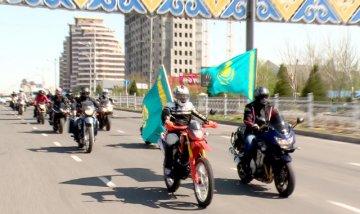Шымкентские байкеры напомнили горожанам о приближении выборов президента РК