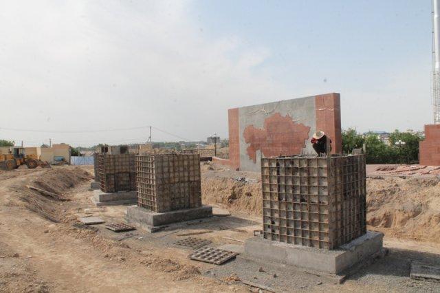В Шымкенте ремонтируют уникальный комплекс «Жеты найза»