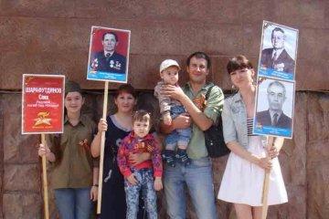 Семья фронтовиков Набиева Рашида, Утяганова Анаса и Шарафутдинова Саяха