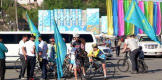 В Шымкенте прошел велозаезд, посвященный юбилею Победы